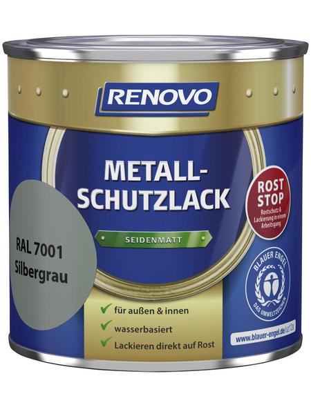 RENOVO Metallschutzlack Silbergrau, seidenmatt
