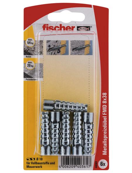FISCHER Metallspreizdübel, 6 Stück, 8 x 38 mm