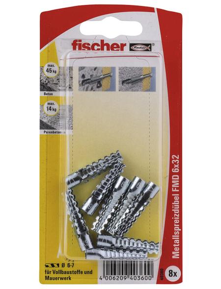 FISCHER Metallspreizdübel, 8 Stück, 6 x 32 mm