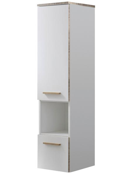 PELIPAL Midischrank, B x H x T: 30 x 123 x 33 cm, weiß