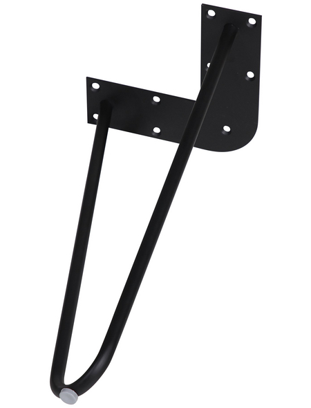 Möbelfuß, BxHxT: 180 x 420 x 180 mm, schwarz