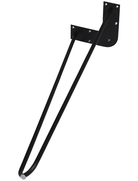 Möbelfuß, BxHxT: 180 x 710 x 180 mm, schwarz