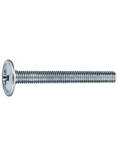 GECCO Möbelgriffschraube, 4 mm, Stahl, 12 Stück