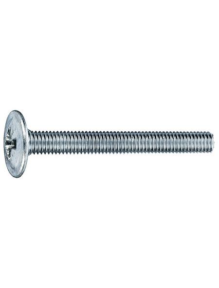 GECCO Möbelgriffschraube, 4 mm, Stahl, 8 Stück