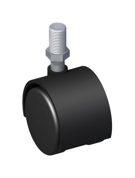 alfer® aluminium Möbelrolle, Ø: 10 mm, schwarz