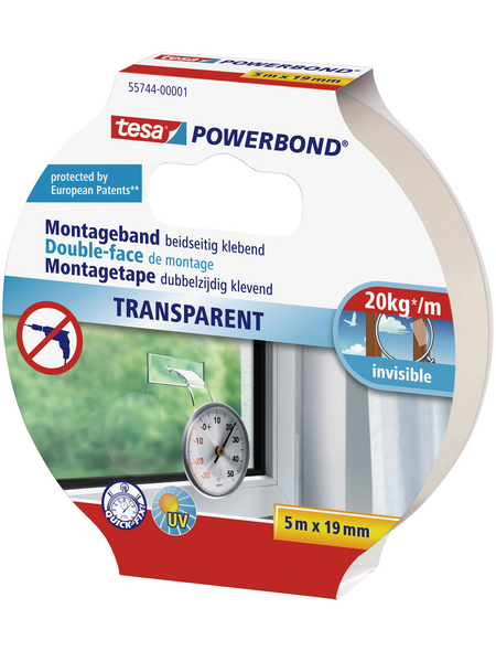 TESA Montageband, Länge: 500 cm, transparent
