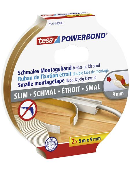 TESA Montageband, transparent, Breite: 0,9 cm, Länge: 5 m