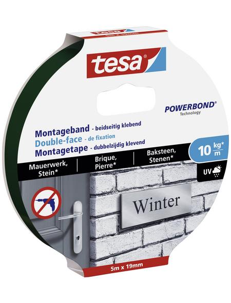 TESA Montageband, transparent, Breite: 1,9 cm, Länge: 5 m