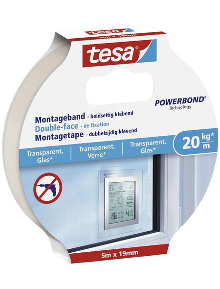 TESA Montageband, transparent, BxL: 10,6 x 1,9 cm