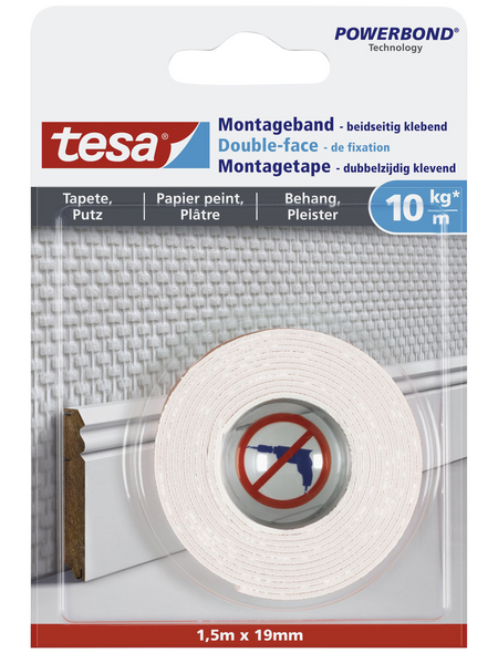 TESA Montageband, weiß