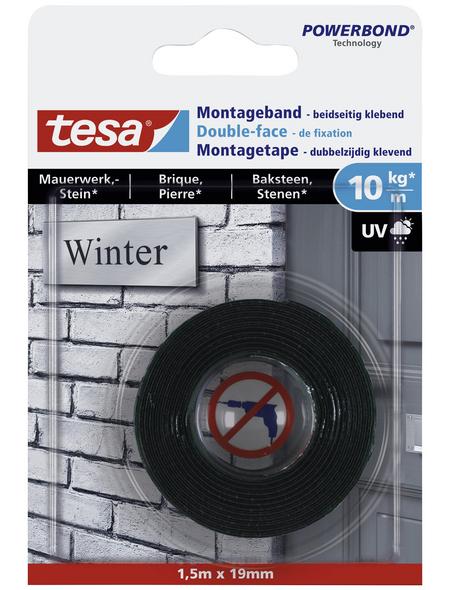 TESA Montageband, weiß, Breite: 1,9 cm, Länge: 1,5 m