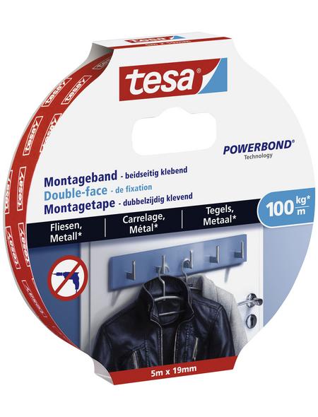 TESA Montageband, weiß, Breite: 1,9 cm, Länge: 5 m