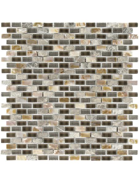 Mosaikmatte »5TH D-Brow«, BxL: 28,5 x 28,5 cm, Wandbelag