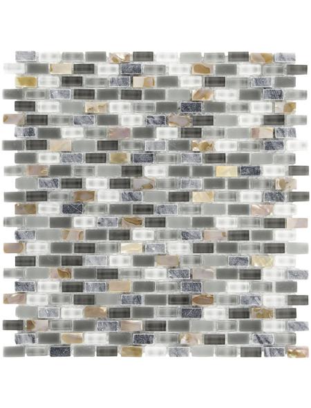 Mosaikmatte, BxL: 28,5 x 28,5 cm, Wandbelag
