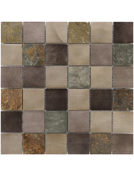 Mosaikmatte, BxL: 30 x 30 cm, Wandbelag