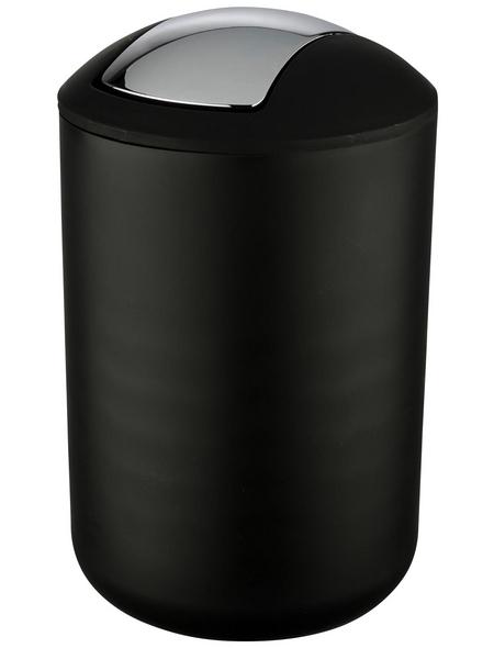 WENKO Mülleimer »Brasil«, Höhe: 31 cm, schwarz