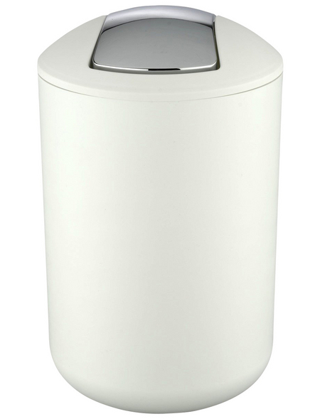 WENKO Mülleimer »Brasil«, Höhe: 31 cm, weiß