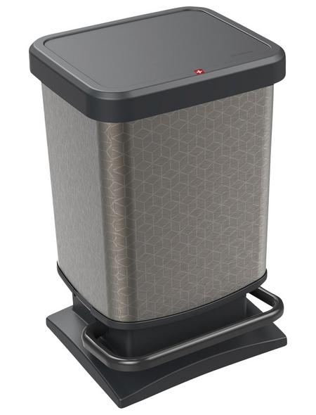 Rotho Mülleimer »Paso«, Trittmechanismus, 20 l, Kunststoff
