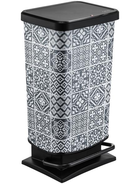 Rotho Mülleimer »Paso«, Trittmechanismus, 40 l, Kunststoff