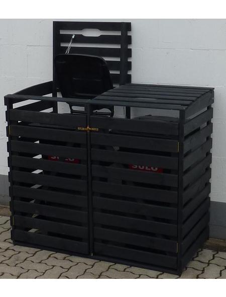 PROMADINO Mülltonnenbox, aus Kiefernholz, 130x111x63cm (BxHxT), 240 Liter