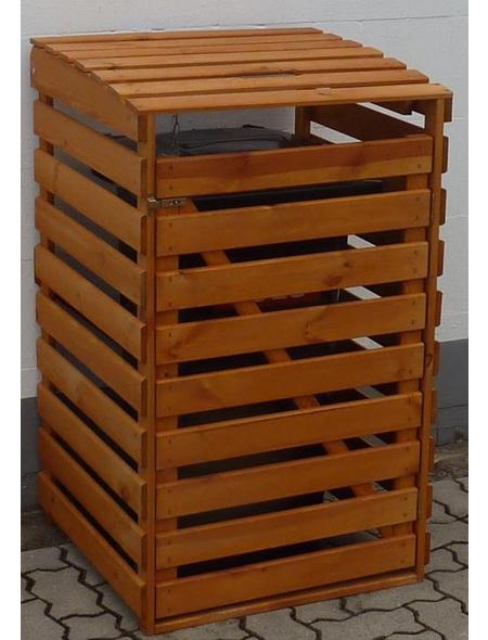 PROMADINO Mülltonnenbox, aus Kiefernholz, 67,5x111x63cm (BxHxT), 120 Liter