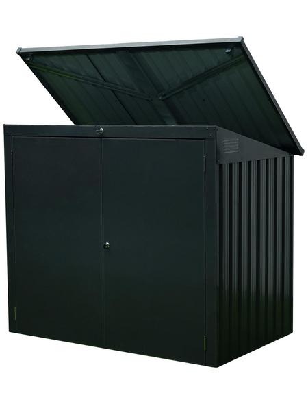 FLORAWORLD Mülltonnenbox, aus Stahlblech, 158x134x101cm (BxHxT), 1.810 Liter