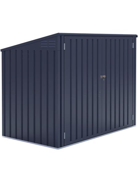 Westmann Mülltonnenbox, aus verzinktem Stahl, 172x128x97cm (BxHxT), 480 Liter