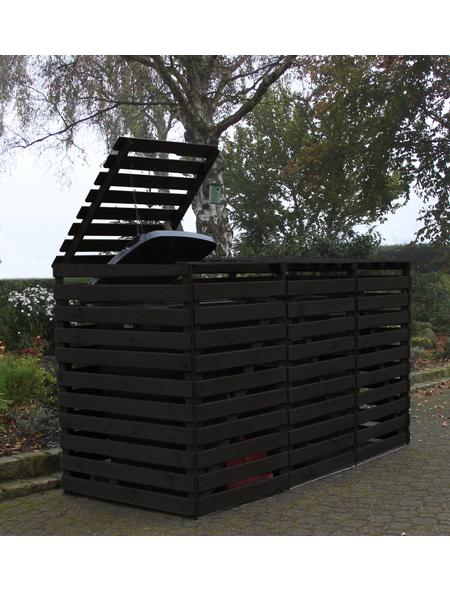 PROMADINO Mülltonnenbox, BxHxT: 92 x 122 x 219 cm, anthrazit