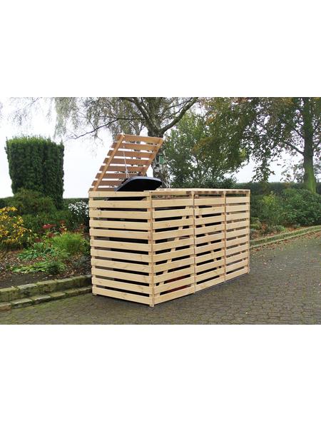 PROMADINO Mülltonnenbox, BxHxT: 92 x 122 x 219 cm, natur