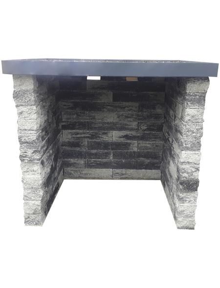 EHL Mülltonnenbox, BxLxH: 160 x 130 x 145 cm, Beton