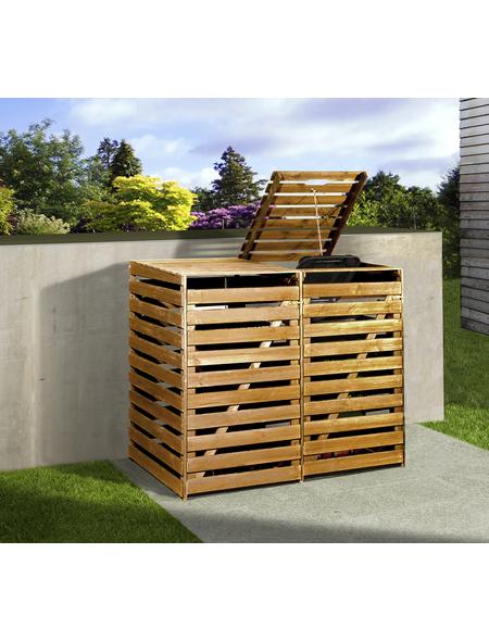 Mülltonnenbox »Mülltonnenbox 2«, aus Holz, 148x122x92cm (BxHxT), 480 Liter