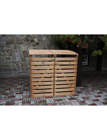 PROMADINO Mülltonnenbox »Vario 4«, aus Holz, 136x122x91,5cm (BxHxT), 480 Liter