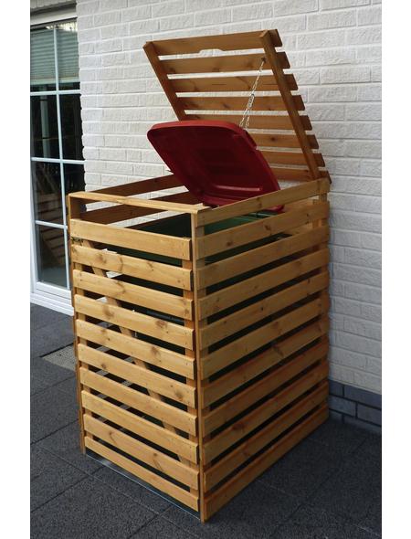 PROMADINO Mülltonnenbox »Vario«, Kiefernholz, honigbraun, BxHxT: 77 x 122 x 92 cm