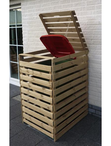 PROMADINO Mülltonnenbox »Vario«, Kiefernholz, natur, BxHxT: 77 x 122 x 92 cm