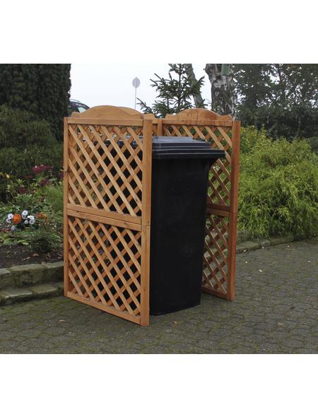 PROMADINO Mülltonnenspaliersystem, BxHxT: 86,5 x 128 x 78,5 cm, braun