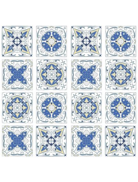 WENKO Multi-Platte, BxHxL: 56 x 0,5 x 50 cm, Glas/Silikon, mehrfarbig