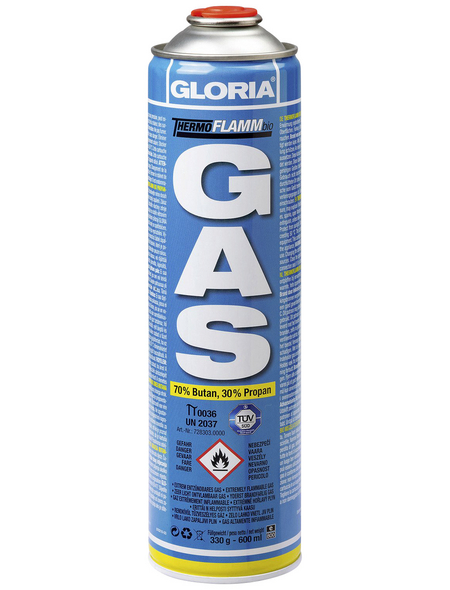"GLORIA Nachfüll-Gaskartusche ""Thermoflamm"", 330 g, 600 ml"