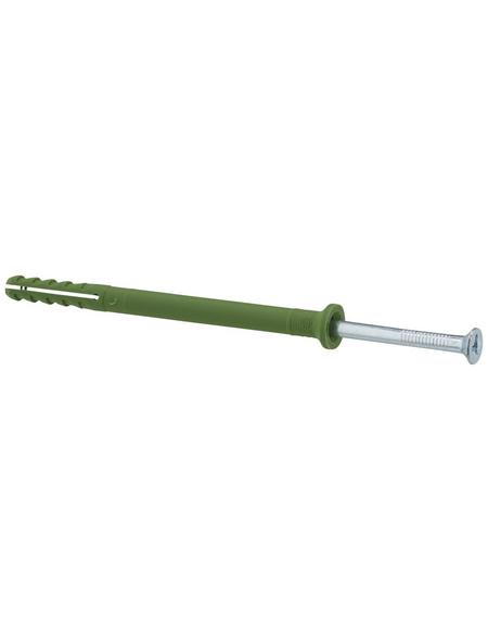 FISCHER Nageldübel, N GREEN, Nylon, 45 Stück, 6 x 80 mm