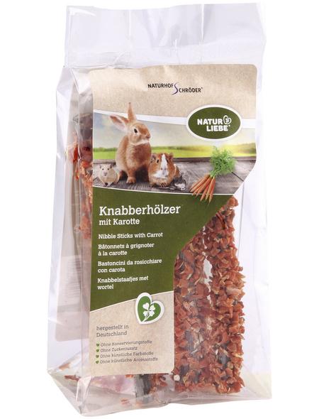 Natur Liebe Nager-Knabberhölzer, 50 g, Karotte