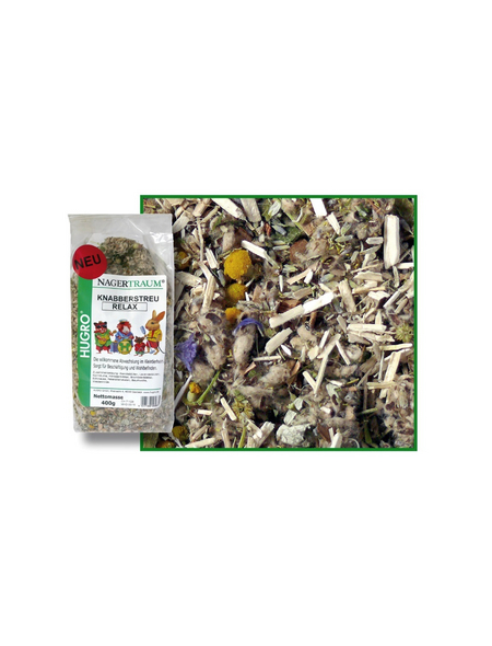 HUGRO Nager-Knabberstreu »Relax«, 400 g,verschiedene Kräuter/Blüten