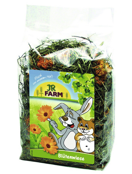 JR FARM Nager-Snacks »Blütenwiese«, Wiesengrün, 6x100 g