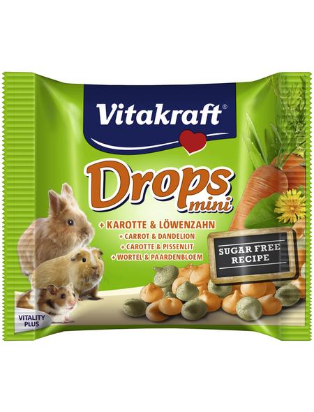VITAKRAFT Nager-Snacks »Drops mini«, 40 g, Karotte/Löwenzahn