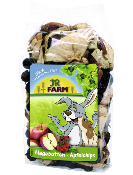 JR FARM Nager-Snacks »Hagebutten-Apfelchips«, Hagebutte  /  Apfel, 8x125 g