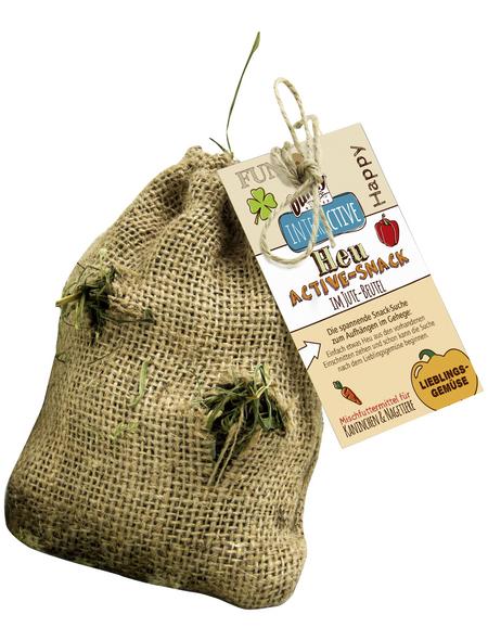 BUNNYNATURE Nager-Snacks »Heu-Active-Snack«, für Zwergkaninchen & Nagetiere, Gemüse