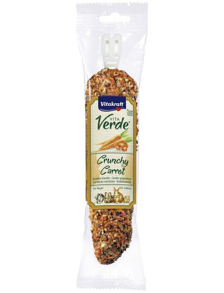 VITAKRAFT Nager-Snacks »Vita Verde® Crunchy Carrot«, 120 g, Karotte/Getreide