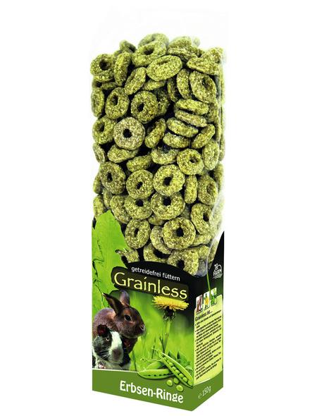 JR FARM Nagersnack »Grainlees Erbsen-Ringe«, 150 g
