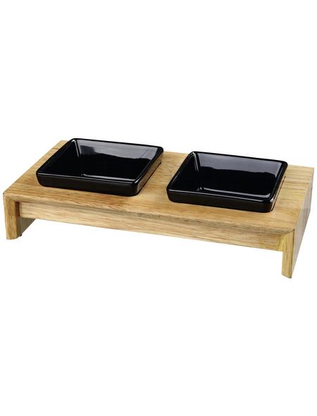 TRIXIE Napf-Set, Keramik/Holz 0,4 l
