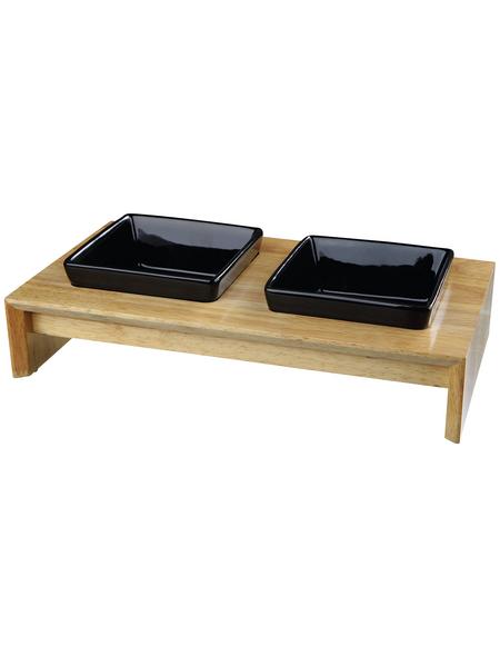 TRIXIE Napf-Set, Keramik/Holz 0,8 l