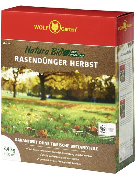 WOLF GARTEN Natura Bio Herbst Rasendünger NR-H  3,4 kg