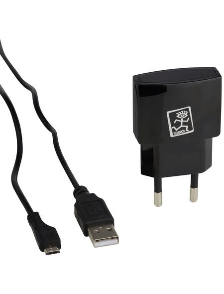 2GO Netzlade-Set, Schwarz, USB-Buchse, Micro-USB-Stecker